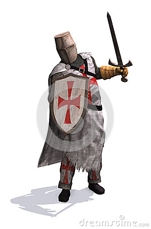 Free Templar Knight Stock Photos - 55251003