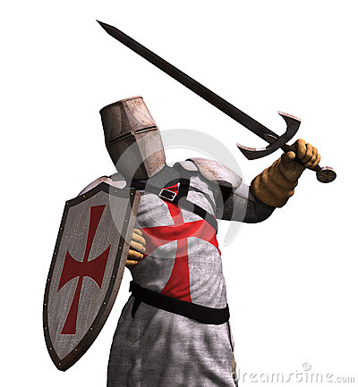 Free Templar Knight In Battle Royalty Free Stock Photo - 55251945