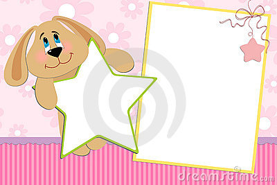 Template for baby s photo album