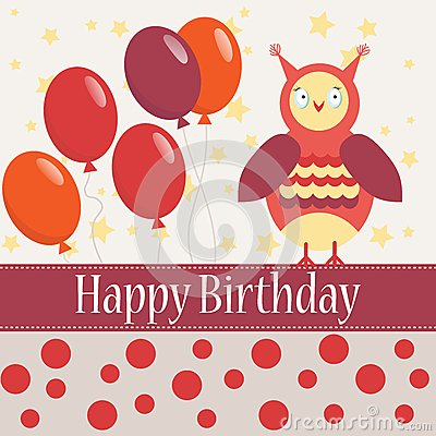 Template bithday greeting card