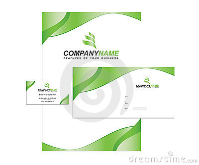 Template business identity with logo