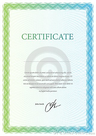 Template certificate, currency and diplomas.