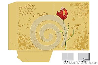 Template for decorative folder