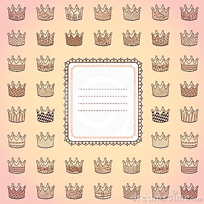 Template design card with different crowns