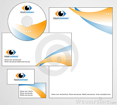 Template design of logo and letterhead
