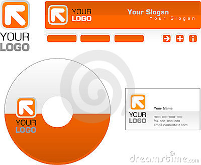 Template design of logo, letterhead, banner, heade