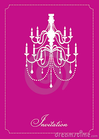 Free Template Design Of Invitation With Chandelier Stock Image - 9340101