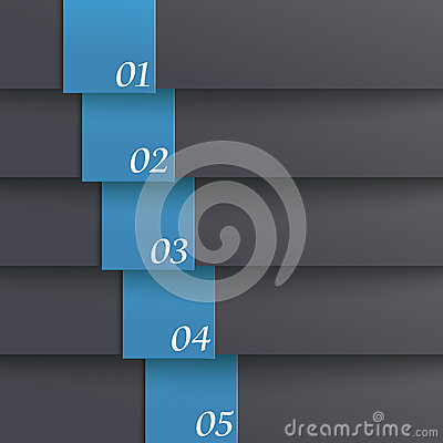 Template Design 5 Options Black Blue PiAd