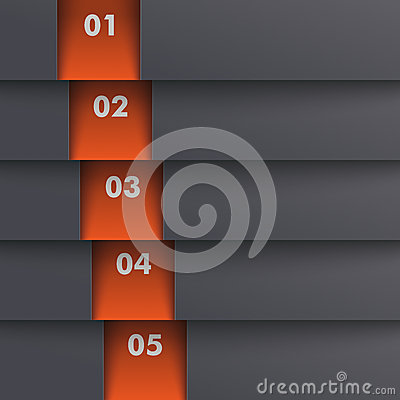 Template Design 5 Options Depth Black Orange PiAd
