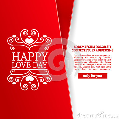 Free Template Design Valentine Banner. Happy Valentine`s Day Brochure With Decoration Pink Tape For Sale. Romantic Poster Royalty Free Stock Image - 85813646
