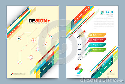 Template design stock vector image 73443548 for Printing press brochure template
