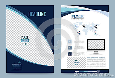 Template design stock vector image 74353604 for Printing press brochure template