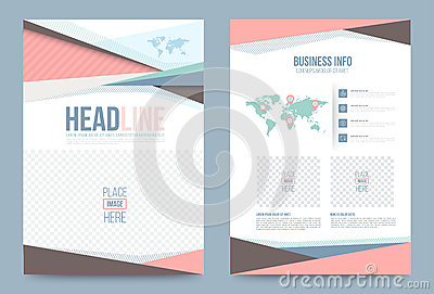 Template design stock vector image 74353723 for Printing press brochure template