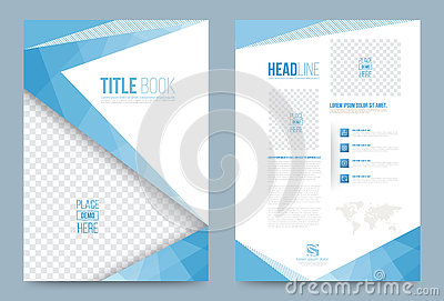 Template design stock vector image 74353735 for Printing press brochure template