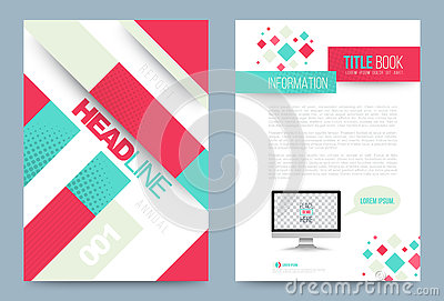 Template design stock vector image 74353778 for Printing press brochure template