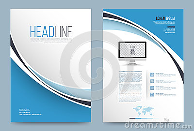 Template design stock vector image 74353851 for Printing press brochure template