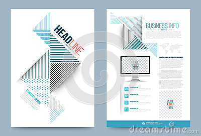 printing press brochure template template design stock vector image 74353882