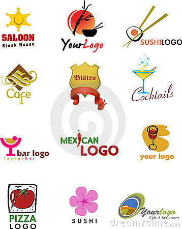 Template designs of logo for coffee shop and resta