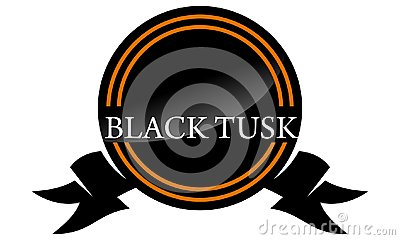 Template Emblem Blank Black Tusk Vector Illustration