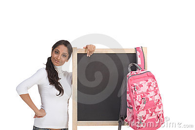 Template - ethnic Indian student by blackboard