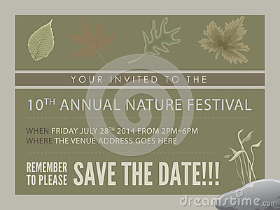 Template event flyer or save the date card stock for Conference save the date template