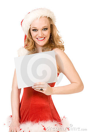 Template - Excited pin up Mrs Santa Claus
