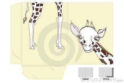 Template for folder with giraffe
