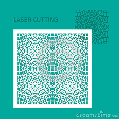 Free Template For Laser Cutting. Stock Photos - 83793833