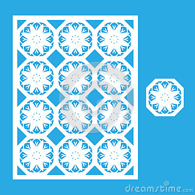 Free Template For Laser Cutting. Royalty Free Stock Image - 83794066