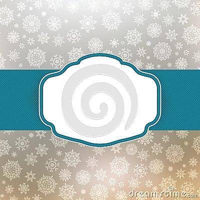 Template frame design for christmas card. EPS 8