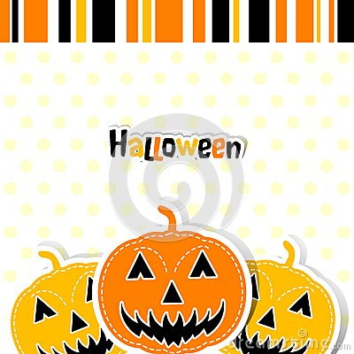 Template Halloween greeting card, vector