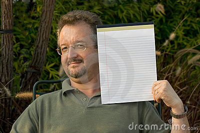 Template Man with notepad
