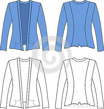 Template outline illustration of a blank woman jac