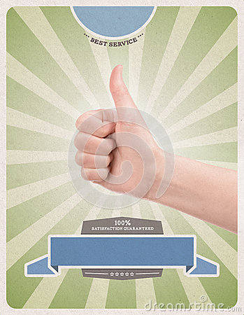 Success retro style poster template
