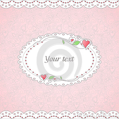 Template of romantic card