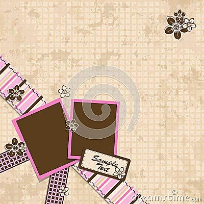 Template scrap card