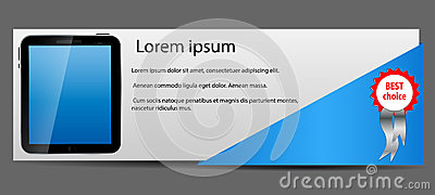 Template for smart phone and mobile phone banner