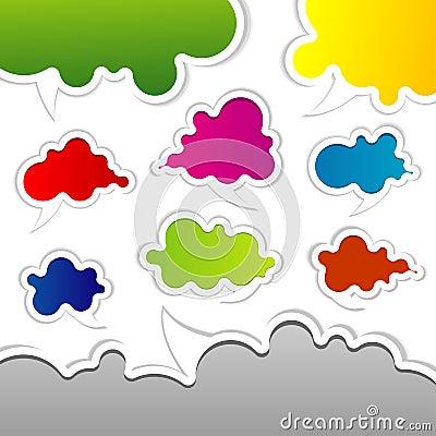 Template speak bubbles