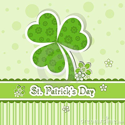 Template St. Patrick s day greeting card