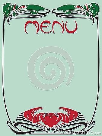 Template vintage menu
