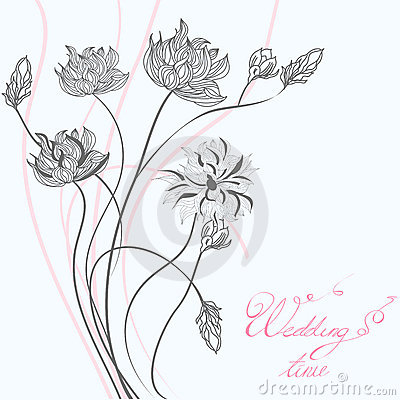 Template for wedding greeting card