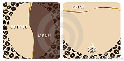 Templates Coffee Shop Menu Stock Photos - Image: 21586453