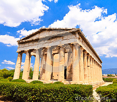 Temple in Agora at Athens