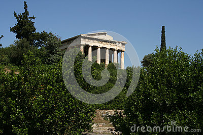 Temple at the Agora, Greece