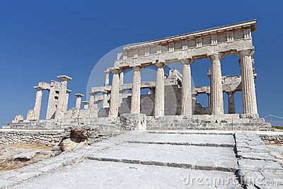 Temple of Aphaea at Aegina, Greece.