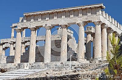 Temple of Aphaea Athina at Aegina, Greece.
