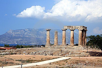 Temple Of Apollo In Corinth Stock Photos - Image: 3190983