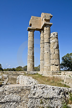 Temple of Apollo at Rhodes acropolis in Greece