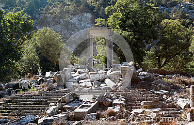 Temple of Artemis-Hadrian in Termessos, Antalya.