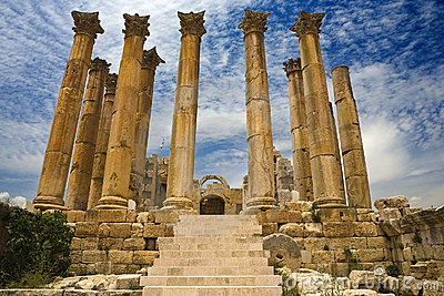 The Temple of Artemis in Jerash